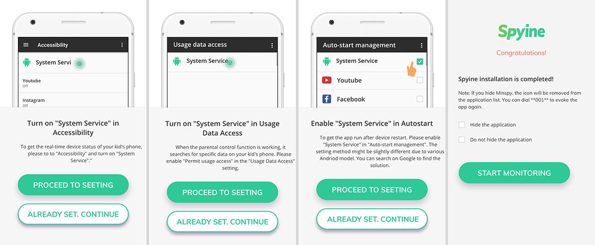 Spyine android tracking app setup 02