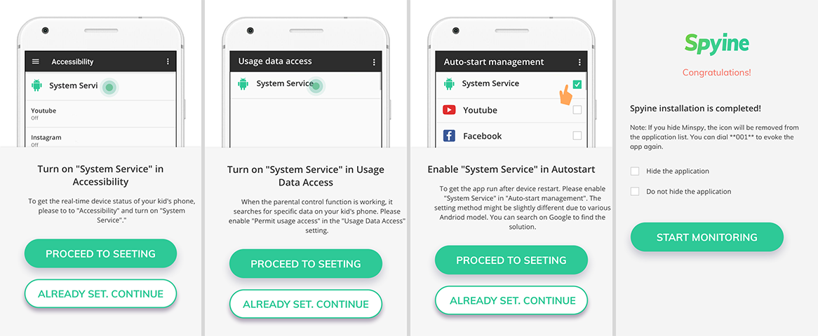 Spyine android tracking app setup 02