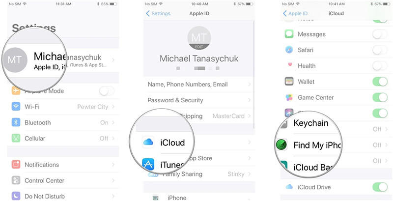 enable-find-my-iphone-ios-11